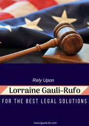 Rely Upon Lorraine Gauli-Rufo for the Best Legal Solutions