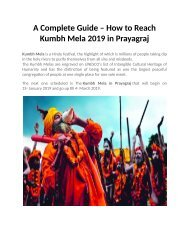 A Complete Guide How to Reach Kumbh Mela 2019 in Prayagraj