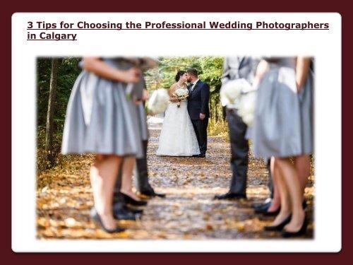Professional Wedding Photographers in Calgary