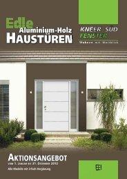 HAUSTÜREN Aluminium-Holz AKTIONSANGEBOT