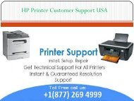 HP Printer Customer Support USA