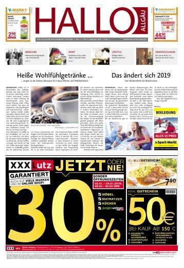 Hallo-Allgäu Memmingen vom Samstag, 05.Januar
