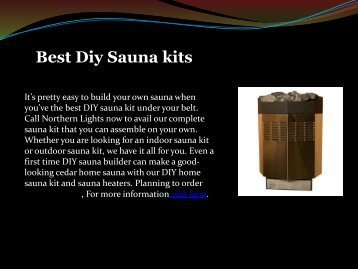 Best Diy Sauna Kits