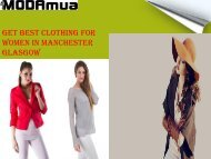 Get Best Clothing for Women in Manchester Glasgow