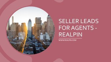 Seller Leads For Agents - RealPin