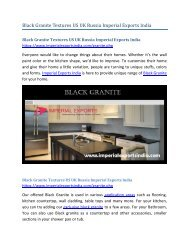 Black Granite Textures US UK Russia Imperial Exports India