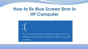 How to Reslove Blue Screen Error on HP Computer