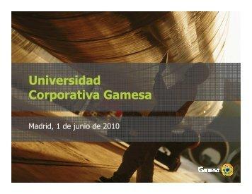 ¿Por qué se necesita una Universidad Corporativa? - Gamesa