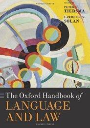 The Oxford Handbook of Language and Law (Oxford Handbooks) ()