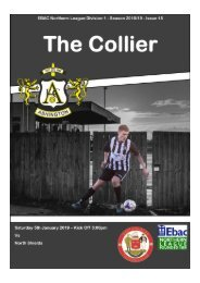 2018/19 #15 - 5th January 2019 - Ashington v. North Shields