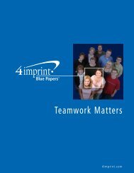 Blue Papers - 4imprint Promotional Products Blog