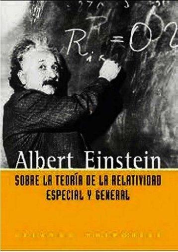 Sobre la teoria de la relatividad - Albert Einstein