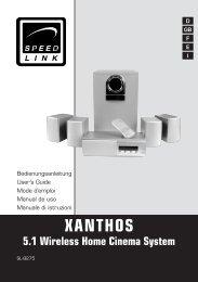 XANTHOS 5.1 Wireless Home Cinema System - SPEEDLINK