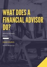 What Does A Financial Advisor Do?