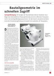 Bauteilgeometrie im schnellen Zugriff - Engel Austria