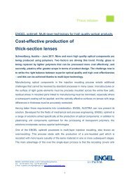 Cost-effective production of thick-section lenses - Engel Austria