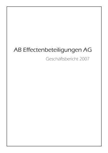 AB Effectenbeteiligungen AG Vorstand