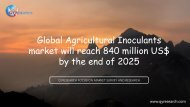 Global Agricultural Inoculants market will reach 840 million US$ by the end of 2025