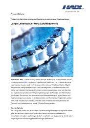 Lange Lebensdauer trotz Leichtbauweise - HADI GmbH