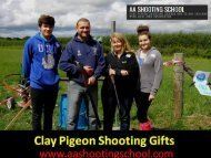 Special Clay Pigeon Shooting Gifts Available at AA Shooting School