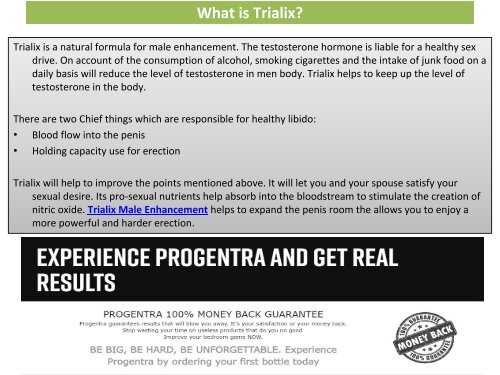 Trialix Male Enhancement - Replenishes your endurance and stamina