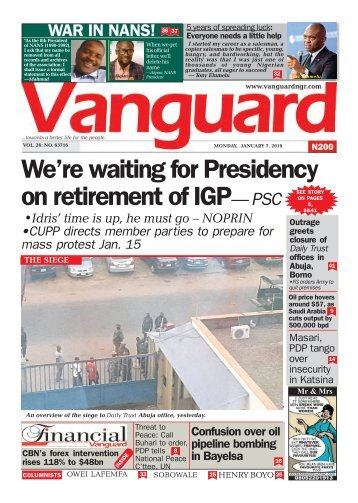 07012019 - We're waiting for Presidency on retirement of IGP— PSC