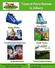 Types of Party Rentals in Albany