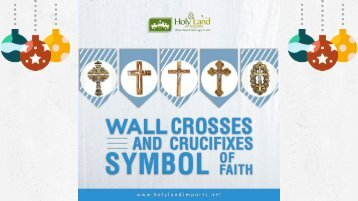Olive Wood Crucifix and Wall Crosses - Symbol of Faith
