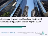 Aerospace Support and Auxiliary Equipment Manufacturing Global Market Report 2019