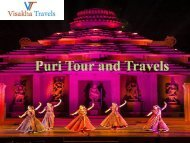 Make Memorable Your Puri Tour and Travels with Visakha Travels