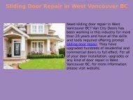 Top Quality Sliding Door Repair in West Vancouver BC