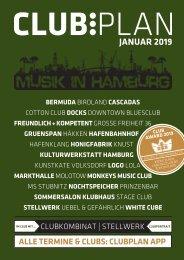 Clubplan Hamburg - Januar 2019