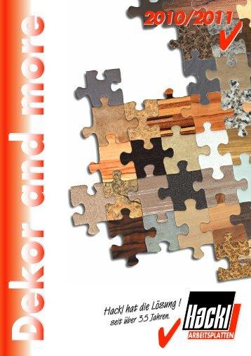 Dekore and more 2010/2011 - Hackl - Arbeitsplatten
