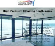 Hire High Pressure Cleaning in South Yarra