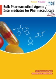 Tokyo Chemical Industries (TCI) Bulk Pharmaceutical Agents Intermediates for Pharmaceuticals