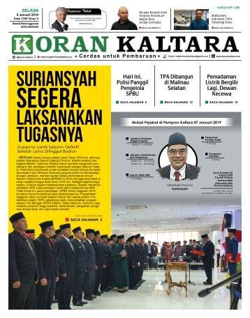 #Test# Koran Kaltara - Selasa, 8 Januari 2019