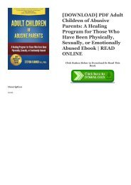 [DOWNLOAD] PDF Adult Children of Abusive Parents: A Healing Program for Those Who Have Been Physically, Sexually, or Emotionally Abused Ebook | READ ONLINE