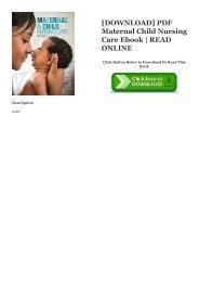 Maternal And Child Health Nursing Pillitteri Ebook