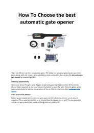 How-To-Choose-the-best-automatic-gate-opener