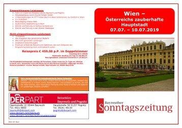 Städtereise nach Wien vom 07. - 10. Juli 2019