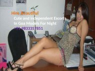 Contact Trusted Call Girls in Goa