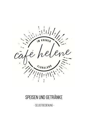 Speisekarte café helene im Kronen Hagebaumarkt