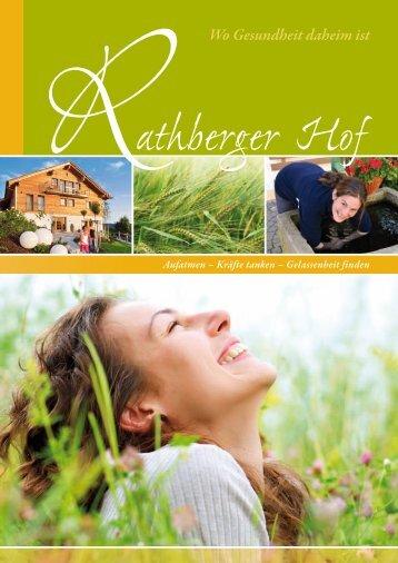 Rathberger Hof Hausprospekt
