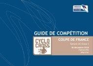 Guide de compétition Coupe de France CX 2018 Flamanville