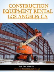 Construction Equipment Rental Los Angeles Ca