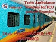 Get Sky Train Ambulance from Bangalore to Delhi at the Minimum Rates