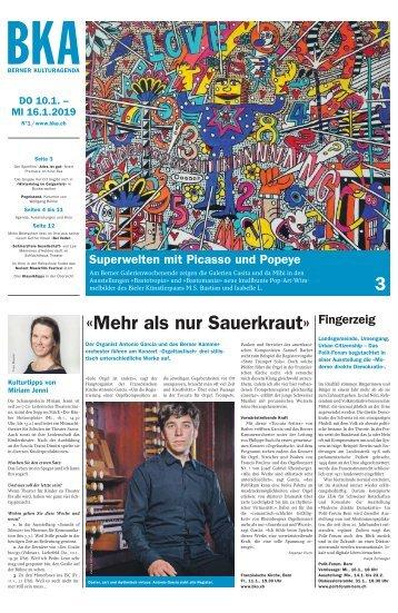 Berner Kulturagenda N°1