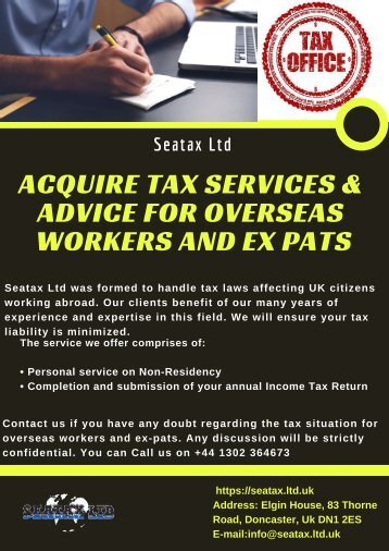 Acquire Tax Services & Advice for Overseas Workers and Ex Pats