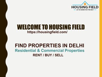 Properties in Delhi   Buy/Sell Residential & Commercial Property