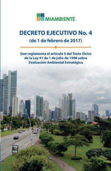 Decreto Ejecutivo No. 4 librito